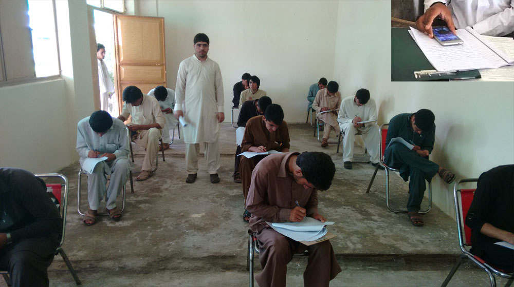 "<p><span style=""color: black;"">An intermediate test nominee was found using a mobile phone and a speaker inserted on Friday at an examination center in Pakpattan through an operation in his ear.</span></p><p><span style=""color: black;"">The center at the Government Higher Secondary School was inspected by Hafiz Shafiq, Chairman of the Sahiwal Board of Intermediate and Secondary Education (BISE).</span></p><p><span style=""color: black;"">When candidates took the paper from the chemistry, he heard beep from the mobile phone while walking by a candidate. The candidate in question had wound bandages around his head, identified when Muhammad Farooq. The president asked the watchdogs to frisk the nominee.</span></p><p><span style=""color: black;"">When bandages were removed, Farooq had been inserted in his ear and headphone wires in his chest. Under his axis he had concealed a small mobile phone. Once asked, he said that by making few cuts around the neck and eyes, a local dispenser had done the surgical work and inserted the wires and headphones.</span></p><p><span style=""color: black;"">Dr. Fida, manager of BISE, informed Dawn that the candidate had been handed over to the city police in Pakpattan. The police also detained the dispenser and the man outside the examination hall on the other end of the phone. Farooq appeared in the 2019 supplementary intermediate test.</span></p>"