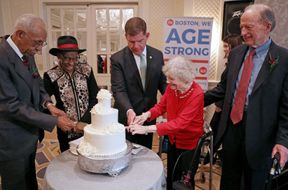 """<p><span style=""""color: rgb(56, 56, 56);"""">More than 80 plus married couples were called on city 41st annual golden wedding anniversary celebration, and they were honored. According to city Mayor Martin Walsh, this event is specially organized annually for couples whose marriage has crossed 50 or longer.</span></p><p><span style=""""color: rgb(56, 56, 56);"""">Some couples hit the dance spot and enjoyed moments together while BO and Bill Winker singed oldies and other couples hummed along or waved from their places. These kinds of events are delighted for the old community.</span></p><p><span style=""""color: rgb(56, 56, 56);"""">The two most of senior couples, Francis and Clare and Milton and Beverly cut the event cake together</span></p><p><span style=""""color: rgb(56, 56, 56);"""">According to Beverly and Milton, they raised in the same region and finally met when they were teenagers it was when Beverly friend said look there are handsome guys outside. Later Beverly went on her bicycle and met her future husband.</span></p>"""