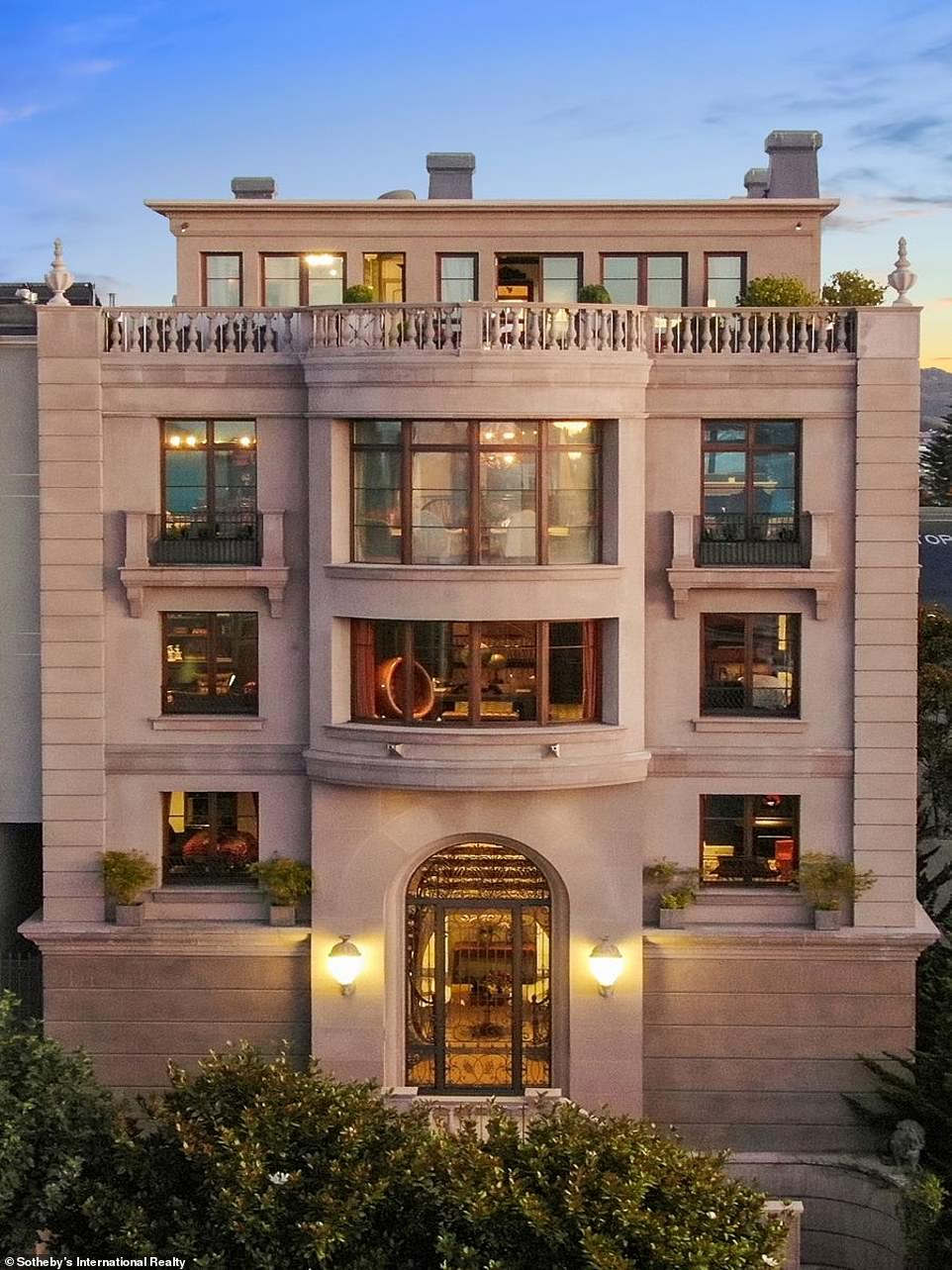 <p>The beautiful San Francisco house of Bebo's founders Michael and Xochi Birch is on the market for $39 million.</p><p>Birches bought a property on a street called Billionaire's Row in Pacific Heights for $29 million in 2008, after selling their social networking site Bebo to AOL.</p><p>The six-bedroom home features a library, a British pub, and a spa with views of the Golden Gate Bridge.</p><p>The house, located at 2799 Broadway, needs little improvement as construction has recently been carried out.</p><p>The beautiful San Francisco home of Bebo creators Michael and Xochi Birch is on the eye-watering $39 million markets, and even comes complete with its own bar and library.&nbsp;</p><p>The Birches bought an 11,600-square-foot manor-style home on a street nicknamed Billionaire's Row in Pacific Heights for $29 million in 2008, after selling their social networking site Bebo to AOL for $850 million.</p><p>If the property sold for its asking price, it would have tied the record for the most expensive home ever purchased in San Francisco. The $39 million records were set last year after the purchase of a nearby home by venture capitalist Matt Cohler.</p><p>The multi-story house is set high above the city of San Francisco and the ocean, providing views across the Golden Gate Bridge to the Oakland Hills.</p><p>Guests at the stunning stack are welcomed by a dramatic double staircase featuring zebra-printed carpeting and an eclectic 18th-century portrait gallery mixed with contemporary art. It also features a study of the British Union Jack mosaic emblazoned in the fireplace, courtesy of Xochi Birch, who is British.</p><p>The house also has a pub with an old bar, converted from a decommissioned British tavern. Most recently, the pair hired architect Eric Cohler to refurbish the kitchen and create a family room with a more colorful style.</p><p>The top floor is where you can find apartments, including a master suite with a working fireplace and a walk-out terrace, which al