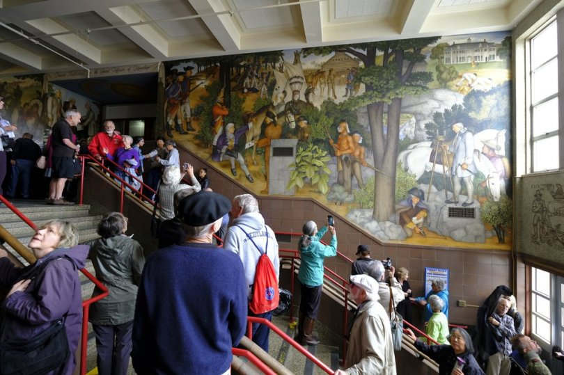 """<p>SAN FRANCISCO — The Alumni Group has sued to appeal the decision of the San Francisco School Board to cover a controversial mural in a public high school that some have described as racist</p><p>In August, the San Francisco Unified School District Education Board voted 4-3 to set up committees on the """"Life of Washington"""" mural.</p><p>The film was produced in 1936 and portrays the life of George Washington. This depicts slaves working in Washington's property and settlers standing over the dead body of the Native Americans. Activists said the George Washington High mural was racist in its depiction of Native Americans and African Americans.</p><p>School Alumni Association filed a lawsuit Friday asking the Board to revoke its vote to remove the mural from public view and to conduct an environmental review. The Board did not respond to the filing immediately.</p>"""