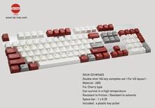 Tai-Hao ABS 104 keys Classic Mini Red