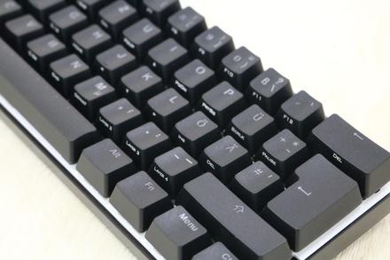 Vortex POK3R RGB ISO MX Black - without keycaps