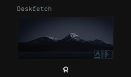 Arch Deskmat - Deskfetch