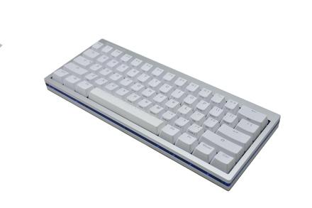 Vortex POK3R RGB LE Silver/Blue MX Black