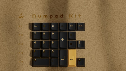 GMK Pharaoh Numpad Kit [Pre-order]