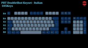 105-Key PBT Double Shot Tai-Hao keycaps set Italian