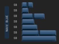 Geekark Dolch Navy Blue Spacebar Accents