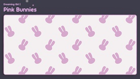 Pink Bunnies Deskmat