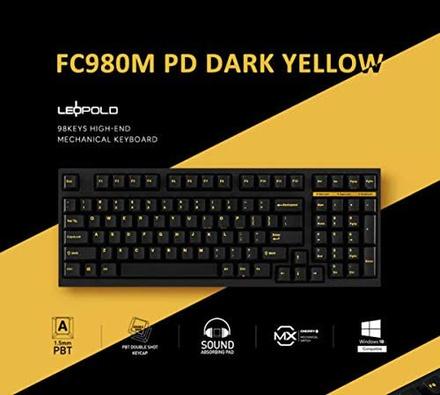 Leopold FC980M PD Dark Yellow MX Blue
