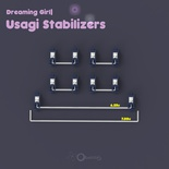 Usagi Stabilizers 4x 2u, 1x 6.25/7u