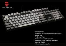 Tai-Hao PBT-104 Dark/Grey & Light/Grey Keycaps