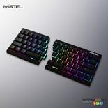 Mistel MD600 RGB Black ANSI MX Nature White