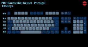 105-Key PBT Double Shot Tai-Hao keycaps set Portuguese