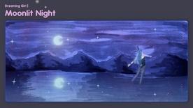 Moonlight Night Deskmat