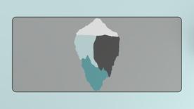 Abstract Iceberg Deskmat