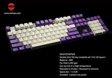 Tai-Hao ABS-104 / White&Purple Keycaps