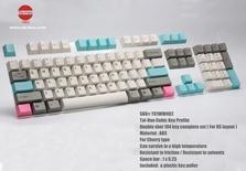 Tai-Hao ABS 104 keys Cubic Profile Grey + Blue