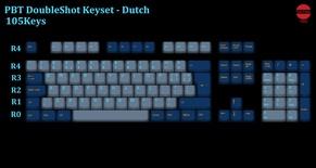105-Key PBT Double Shot Tai-Hao keycaps set Dutch