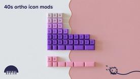 KAM Li'l Dragon 40s Ortho Icon Mods [Pre-order]