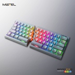 Mistel MD600 RGB White ANSI MX Red