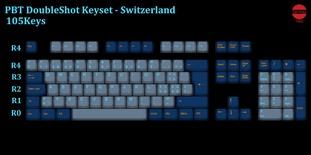 105-Key PBT Double Shot Tai-Hao keycaps set Switzerland
