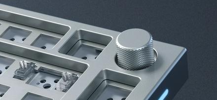 GMMK Pro White Ice 75% TKL - Barebone, ANSI-Layout, White Ice