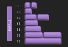 Geekark Dolch Purple Spacebar Accents