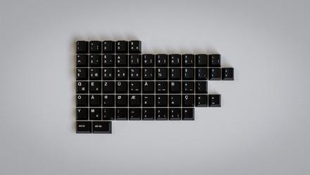 GMK add-on set White on Black