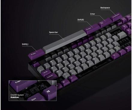 Leopold FC750R PD Grey/Purple MX Silent Red