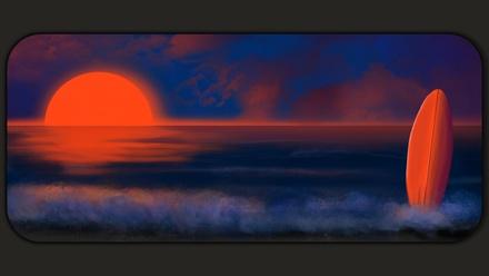 Sunset Beach Deskmat