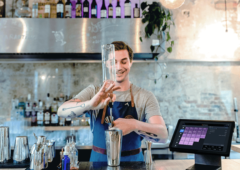 Het kassasysteem voor <br>bars en clubs dat alle omstandigheden aankan