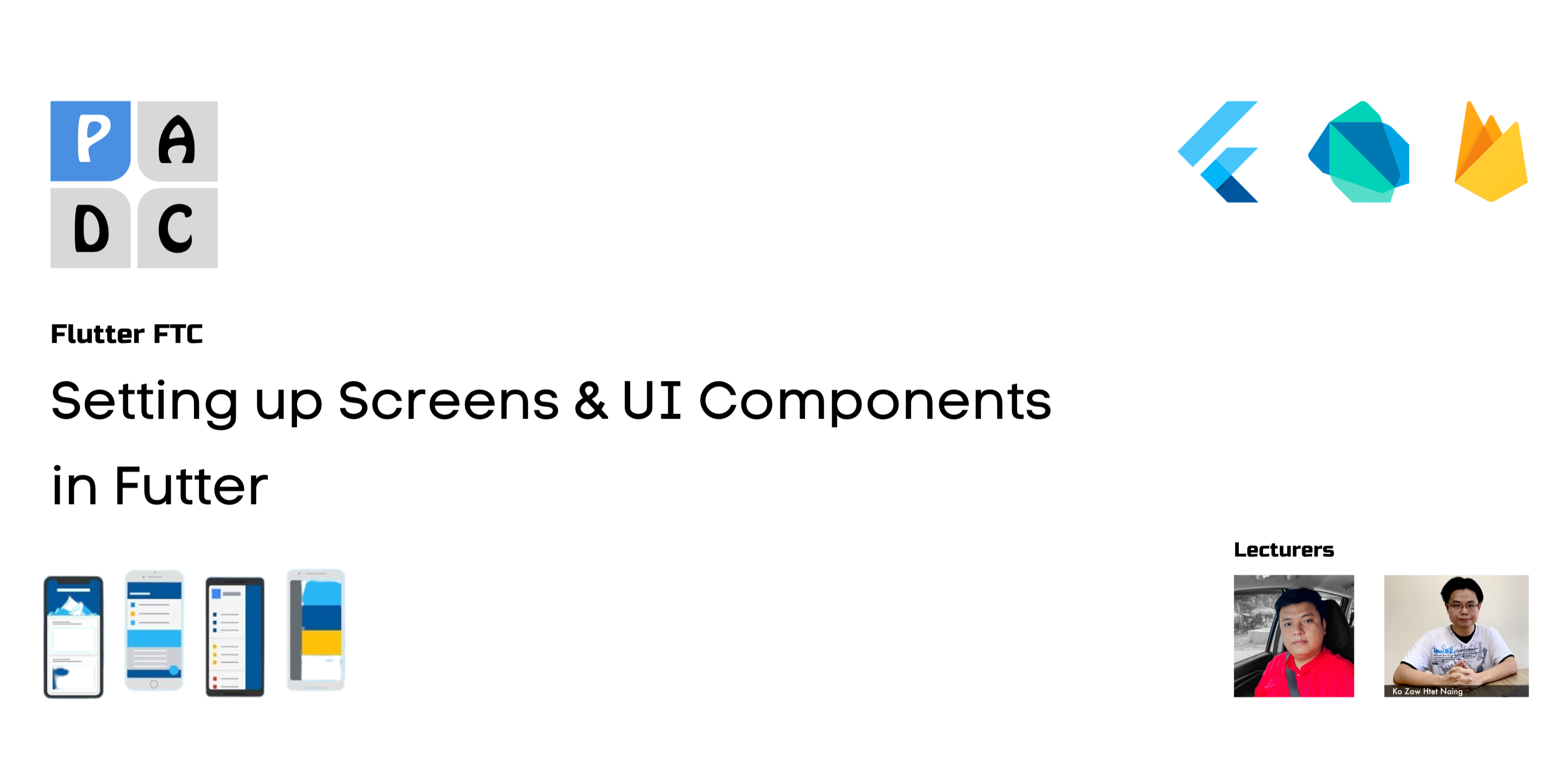 Setting up Screens & UI Components in Flutter