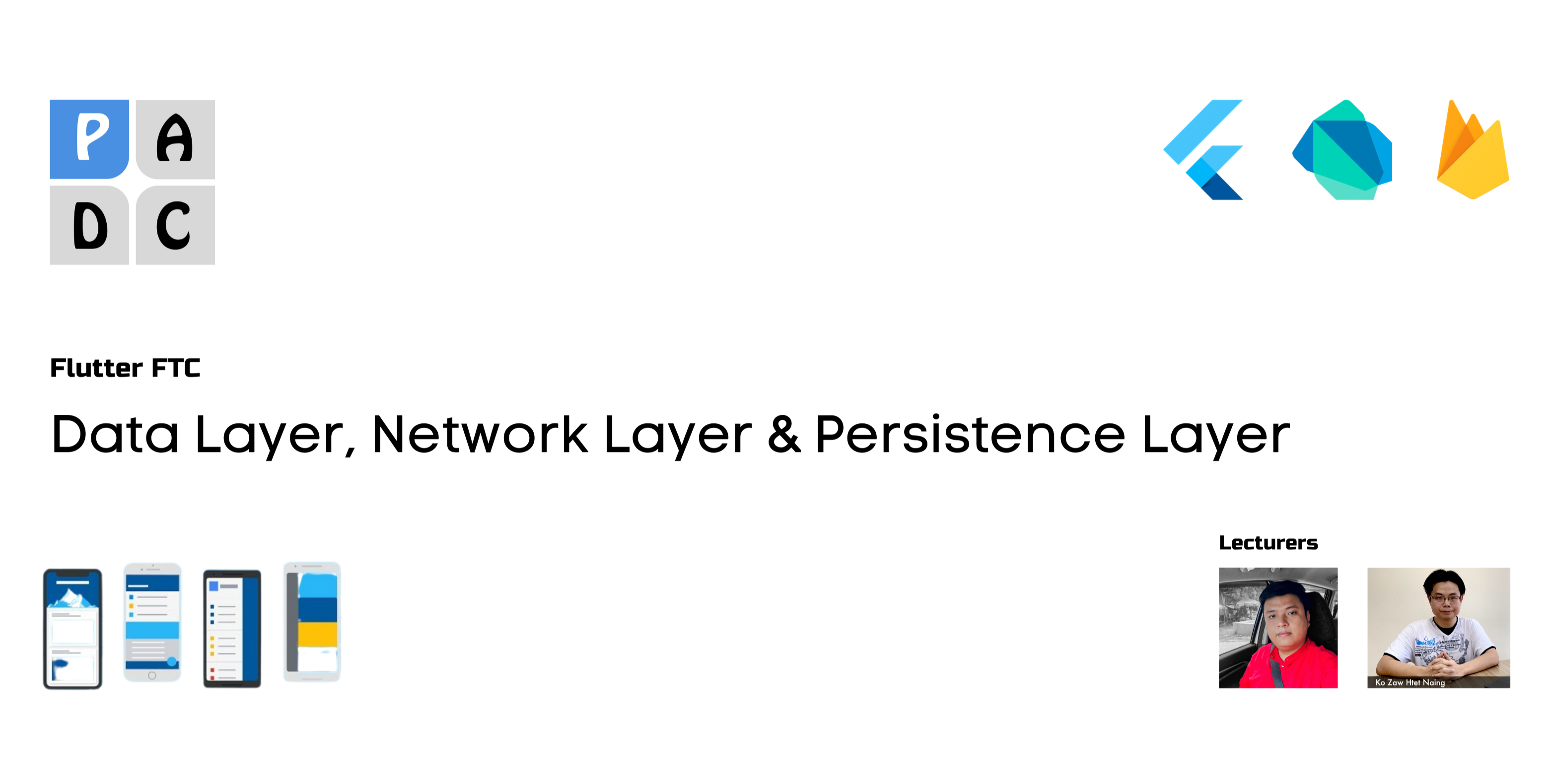 Data Layer, Network Layer & Persistence Layer