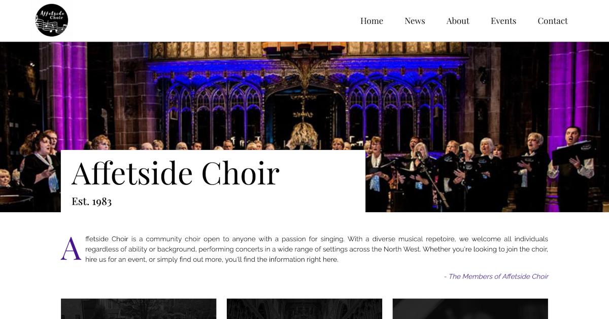 Affetside Choir screenshot