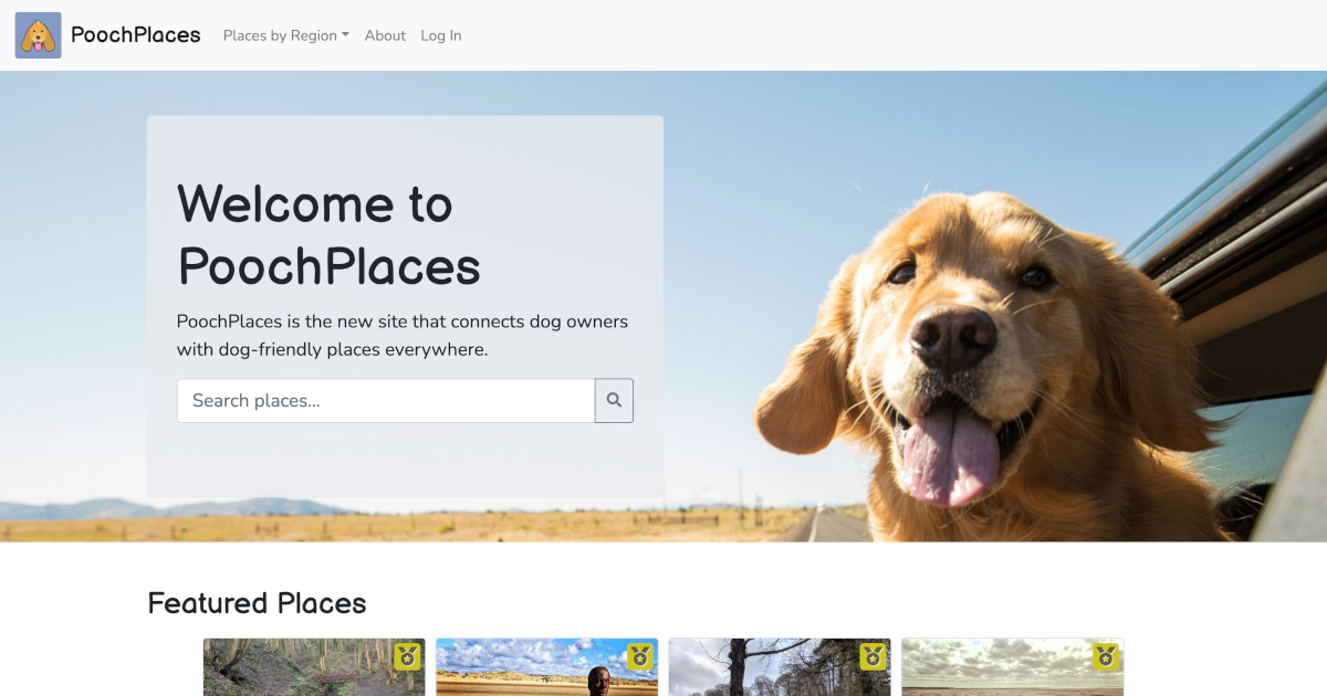 PoochPlaces screenshot