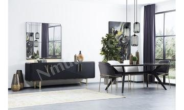 Quattro (Siyah) Yemek Odası