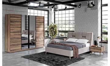 Corsa Sürgülü Ceviz Yatak Odası