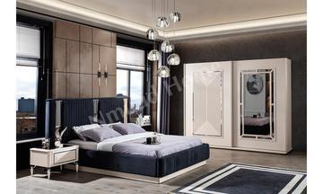 Safir Gümüş Sürgülü Yatak Odası