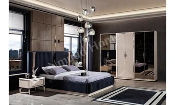 Safir Gümüş Kapaklı Yatak Odası