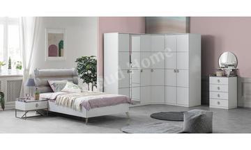 Marble Gold Köşe Dolaplı Yatak Odası