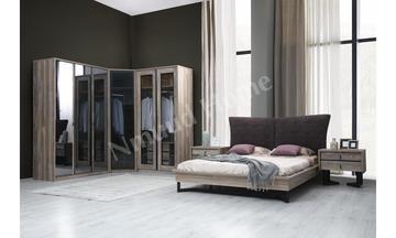 Rustica Köşe Dolaplı Yatak Odası
