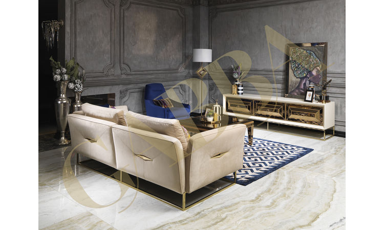 Versace Krem-Altın