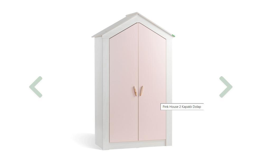 Pink House 2 Kapaklı Dolap