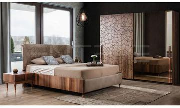 Petra Ceviz Modern Yatak Odası Takımı