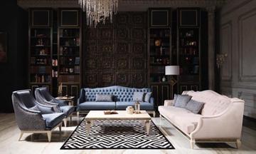 Bugatti Krem Luxury Koltuk Takımı