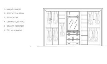 Aras 3 Kapaklı Raylı Dolap Modern Yatak Odası Takımı