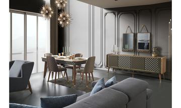 Bergamo Luxury Yemek Odası Takımı