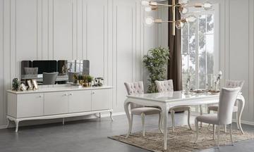 Art Beyaz Modern Yemek Odası Takımı