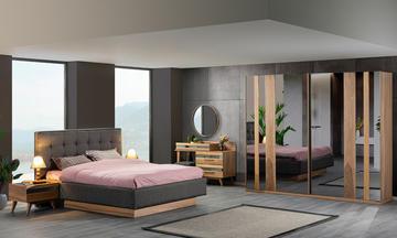 Göynük 240 Akardiyon Kapılı Modern Yatak Odası Takımı