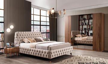 Tesla ceviz Modern Yatak Odası Takımı